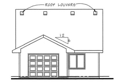 Rear Elevation Plan: 10-1441