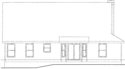 Rear Elevation Plan: 10-1444
