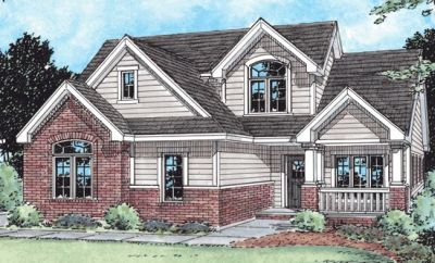 Traditional Style Home Design Plan: 10-1445
