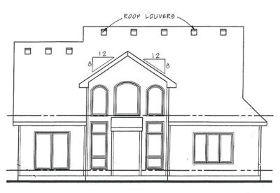 Rear Elevation Plan: 10-1445