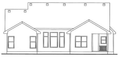 Rear Elevation Plan: 10-1446