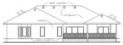 Rear Elevation Plan: 10-1447