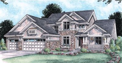 Craftsman Style Home Design 10-1448
