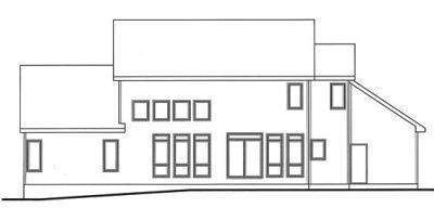 Rear Elevation Plan: 10-1448