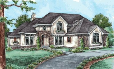 French-country Style Floor Plans Plan: 10-1450