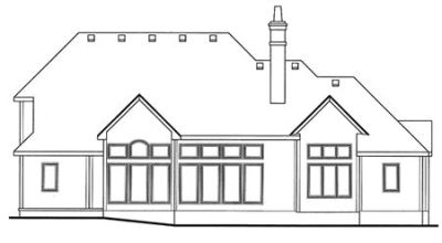 Rear Elevation Plan: 10-1450