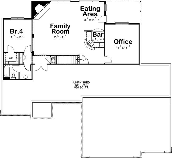 Lower Floor Plan: 10-1452