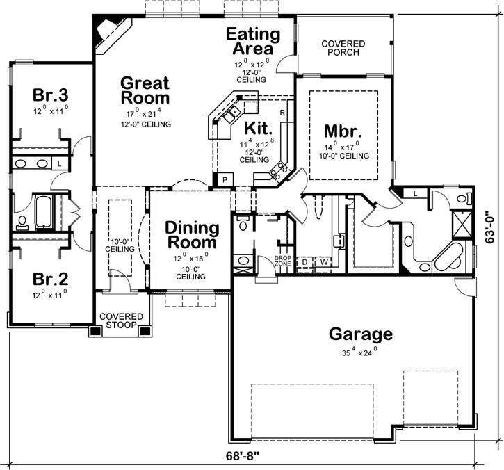 Main Floor Plan: 10-1452