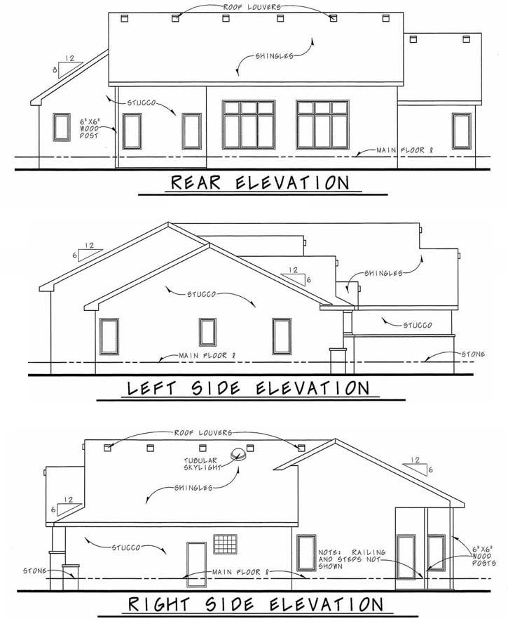 Rear Elevation Plan: 10-1452