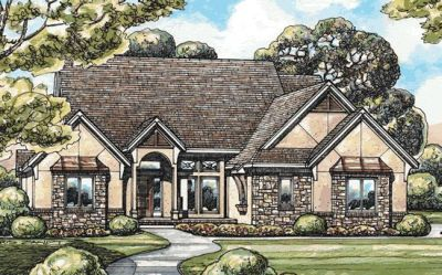 French-country Style House Plans Plan: 10-1453