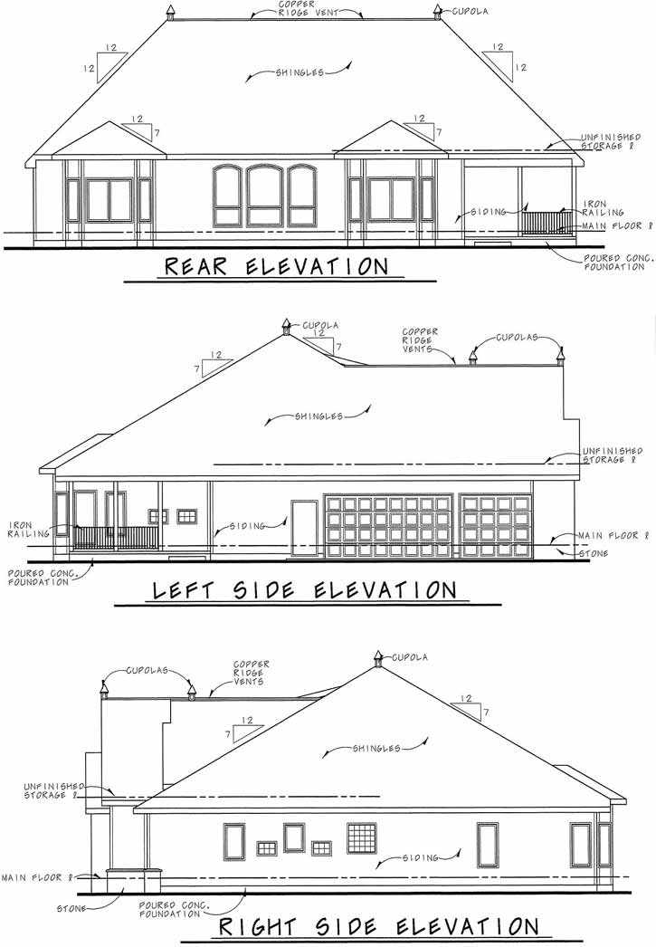 Rear Elevation Plan: 10-1454