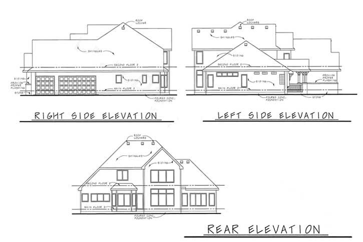 Rear Elevation Plan: 10-1455