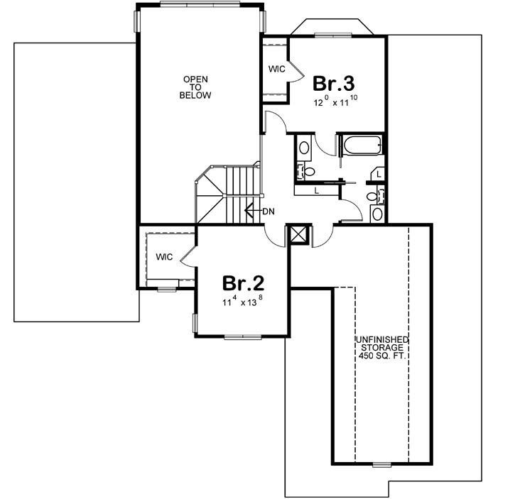 Upper/Second Floor Plan: 10-1455