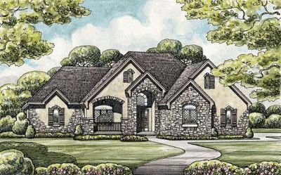 French-country Style House Plans Plan: 10-1456