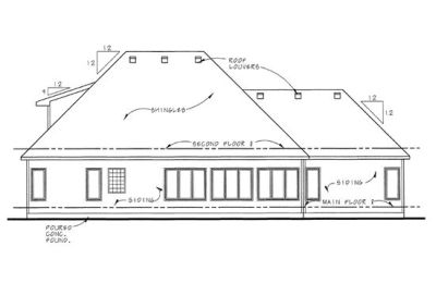 Rear Elevation Plan: 10-1456