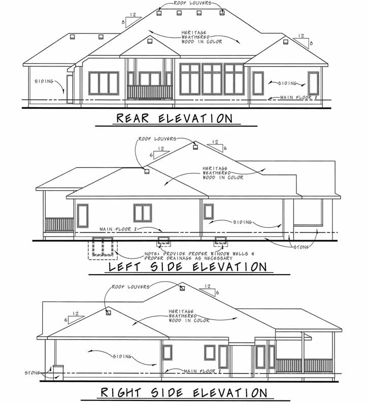Rear Elevation Plan: 10-1457