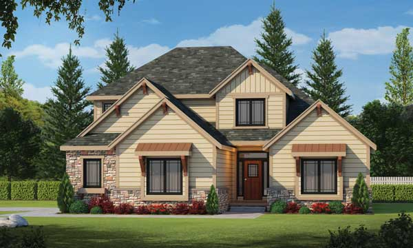 Traditional Style Home Design Plan: 10-1459