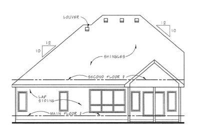 Rear Elevation Plan: 10-1459