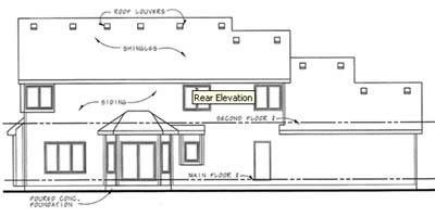 Rear Elevation Plan: 10-1460