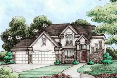 French-country Style Floor Plans Plan: 10-1462