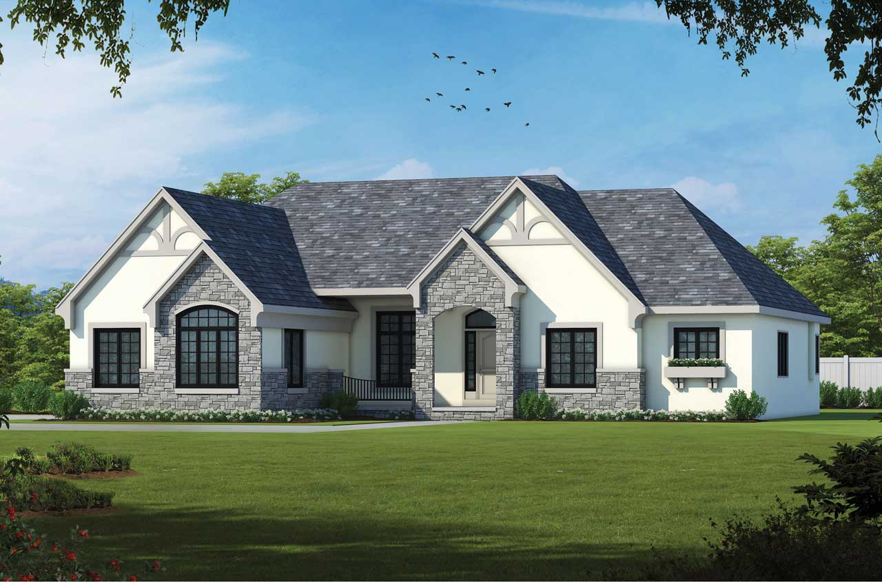 French-country Style Floor Plans Plan: 10-1463
