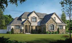 French-Country Style Floor Plans Plan: 10-1464