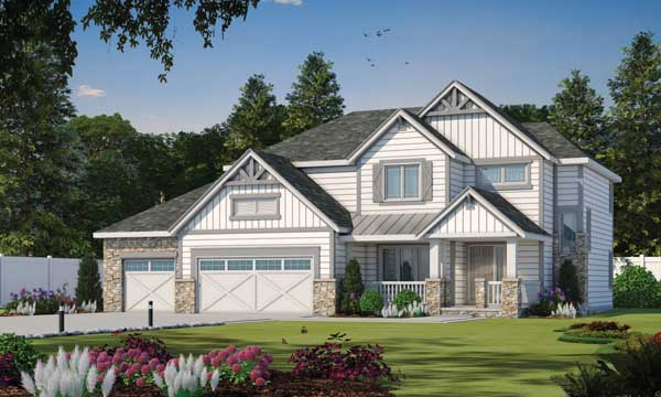 Craftsman Style House Plans Plan: 10-1465