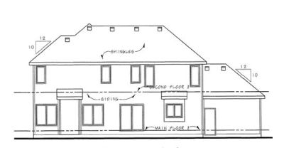 Rear Elevation Plan: 10-1465