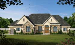 French-Country Style Floor Plans Plan: 10-1466