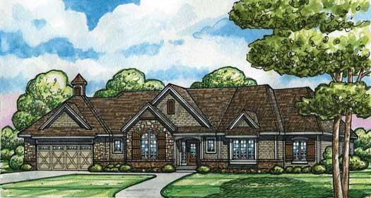 European Style House Plans Plan: 10-1468