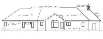 Rear Elevation Plan: 10-1468