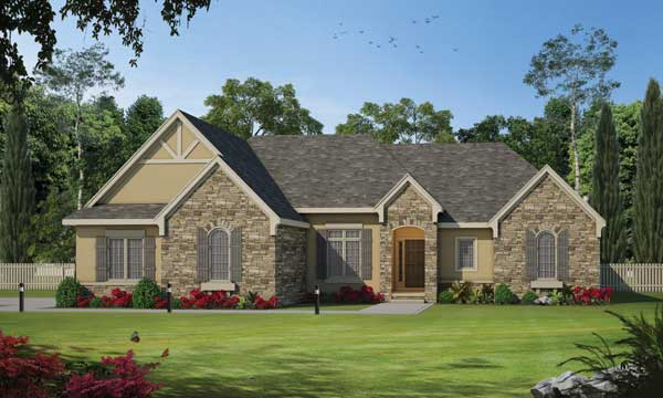 French-country Style House Plans Plan: 10-1469