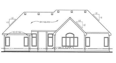 Rear Elevation Plan: 10-1469