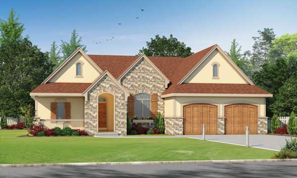French-country Style House Plans Plan: 10-1470
