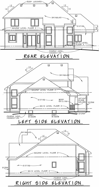 Rear Elevation Plan: 10-1471