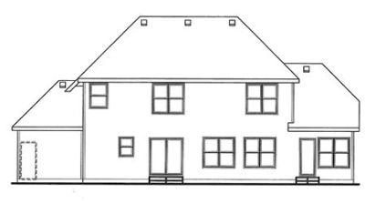 Rear Elevation Plan: 10-1473
