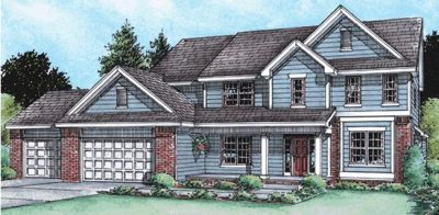 Traditional Style Home Design Plan: 10-1474