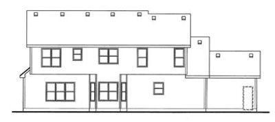 Rear Elevation Plan: 10-1474