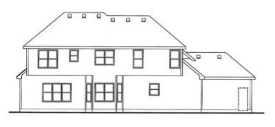 Rear Elevation Plan: 10-1475