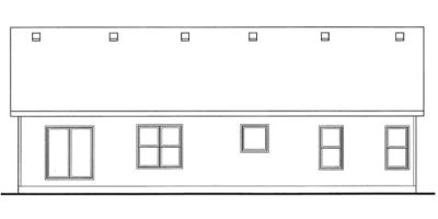 Rear Elevation Plan: 10-1476