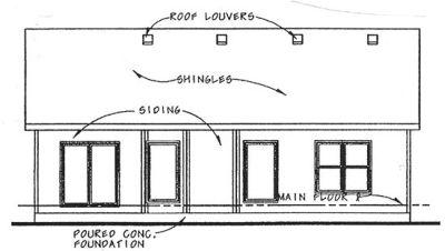 Rear Elevation Plan: 10-1478
