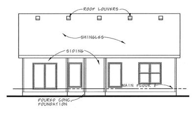 Rear Elevation Plan: 10-1479