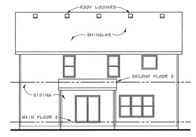 Rear Elevation Plan: 10-1480
