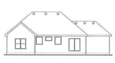 Rear Elevation Plan: 10-1482