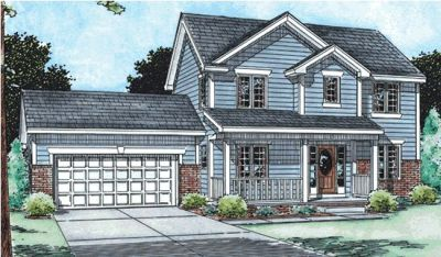 Traditional Style Home Design Plan: 10-1488