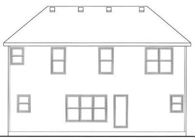 Rear Elevation Plan: 10-1490