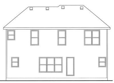 Rear Elevation Plan: 10-1491