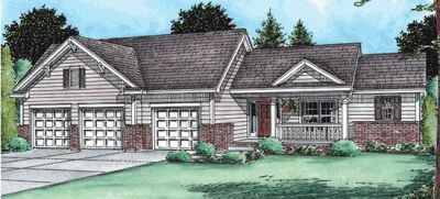 Traditional Style Home Design Plan: 10-1492