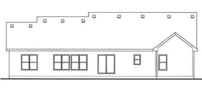 Rear Elevation Plan: 10-1492
