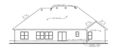 Rear Elevations Plan:10-1493